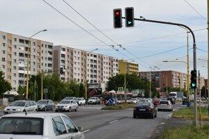 Križovatka ulíc Armádneho generála Svobodu - Exnárova.