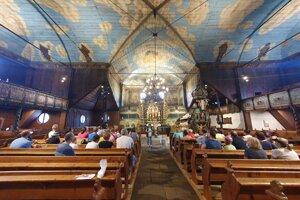 Jednými zo zastávok boli aj evanjelické kostoly v Kežmarku.