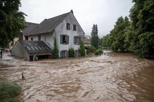 Záplavy v nemeckom Erdorfe.