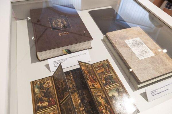 Vernisáž výstavy Najkrajšie knihy Slovenska za rok 2020 v Univerzitnej knižnici v Bratislave.