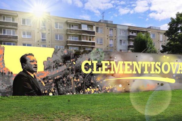 Vizuál muralu na Clementisovej ulici.
