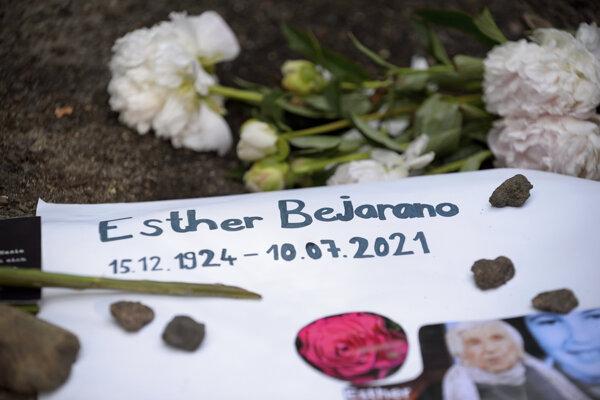Miesto posledného odpočinku Esther Béjaranovej v Hamburgu.