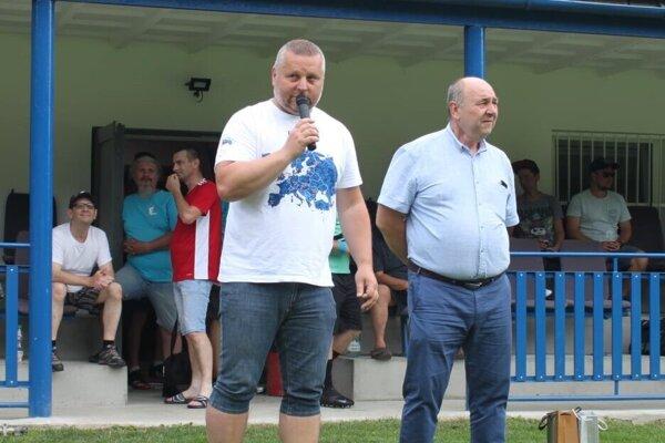 Igor Krško počas futbalového turnaja vo Veľkom Rovnom.