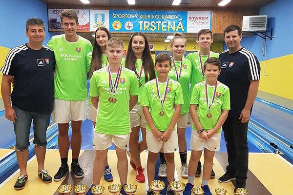 Kolkári Trstenej pozbierali na majstrovstvách Slovenska krásnu medailovú úrodu.