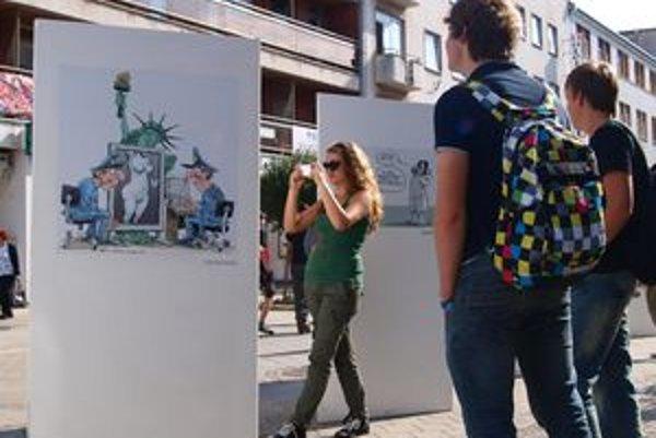 Výstava karikatúr bude v Nitre do 7. októbra.