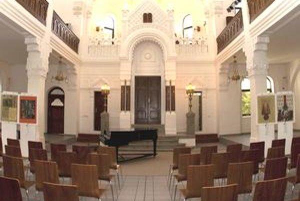 Interiér nitrianskej synagógy nadobudol dnešnú podobu po kompletnej rekonštrukcii.
