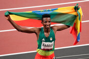 Olympijský víťaz v behu na 10 000 m Selemon Barega.