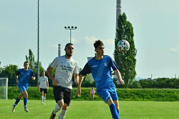 Momentka zo zápasu Nováky - Bystričany.