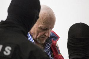 Na doživotie odsúdený Miroslav Kavický počas pojednávania na Najvyššom súde v roku 2019.