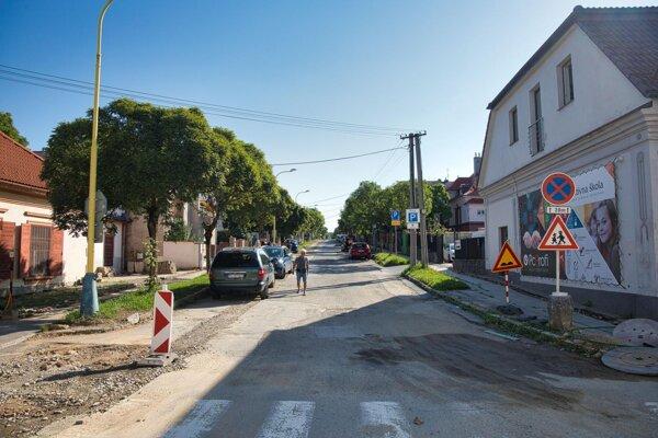 Sládkovičova ulica v Prešove pred rekonštrukciou.