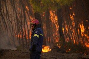 K rýchlemu šíreniu požiarov prispieva aj silný vietor.