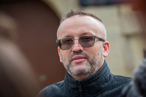 Vladimír Pčolinský po prepustení z väzby.
