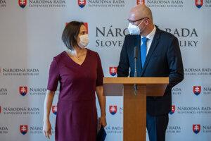 Mária Kolíková a Richard Sulík.