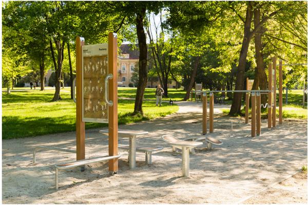 Workoutové ihrisko v Zámockom parku.