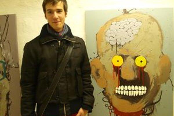 Viliam Slaminka vlani vystavoval v Bunkri Nitrianskej galérie - aj takéto tváre zombie.