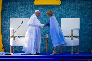 Pápež František a prezidentka Čaputová.