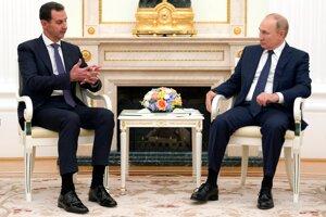 Sýrsky prezident Bašár Asad a ruský prezident Vladimir Putin.