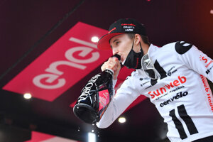 Jai Hindley na Giro d'Italia 2020.