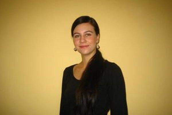 Erika Babocká. Je najmladšia poslankyňa, akú kedy Zlaté Moravce mali.
