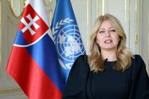 Prezidentka Zuzana Čaputová vystúpila pred OSN prostredníctvom telemostu.