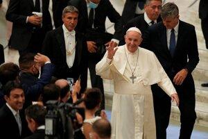 Pápež František na tradičnej generálnej audiencii.