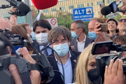 Carles Puigdemont po prepustení zo zadržania.