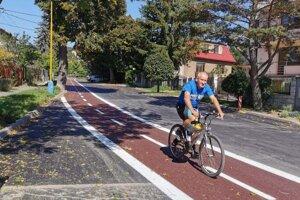 Cyklochodník je vlastne len namaľovaný na ceste.