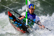 Jakub Grigar na MS vo vodnom slalome 2021.