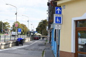 Hasičská ulica v Trenčíne.