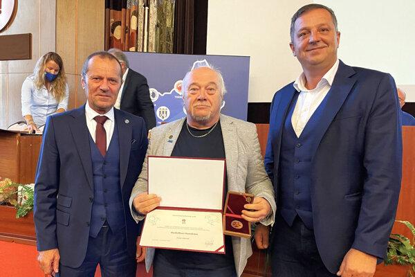 Zľava Ladislav Gádoši, Rudolf Hanák a Peter Pálenčík.