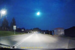 Takto zachytila bolid kamera z auta.