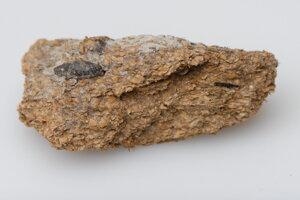 Ľudská stolica stará 2600 rokov, ktorú objavili v soľnej bani v Hallstatte.