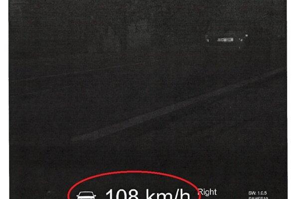 Takto zachytil Fabiu policajný radar.