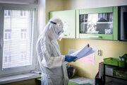 Pracovník Martinskej univerzitnej nemocnice.