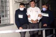 Zadržanie opozičného lídra Michaila Saakašviliho 1. októbra.