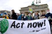 Klimatický protest v Nemecku.
