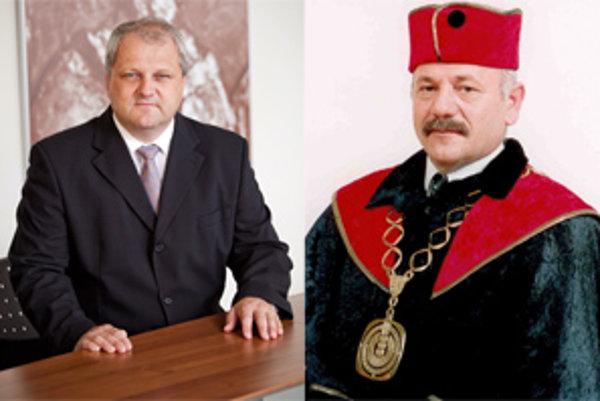 Vľavo rektor UKF Libor Vozár, vpravo rektor SPU Peter Bielik.