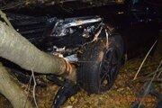 Mercedes narazil do stromu.