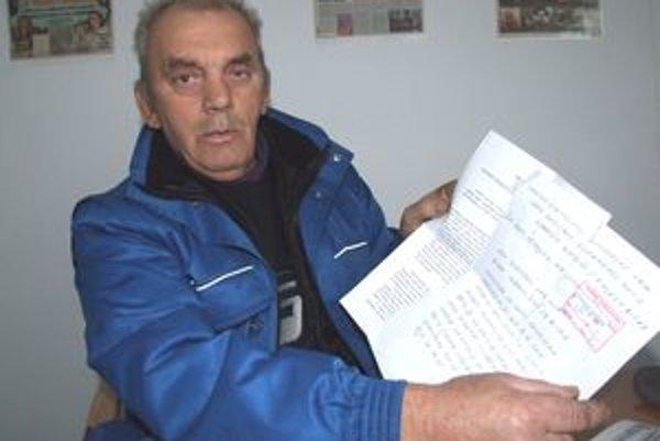 Polícia trestné stíhanie prerušila. Dôchodca Ján Kukla podal proti uzneseniu sťažnosť.