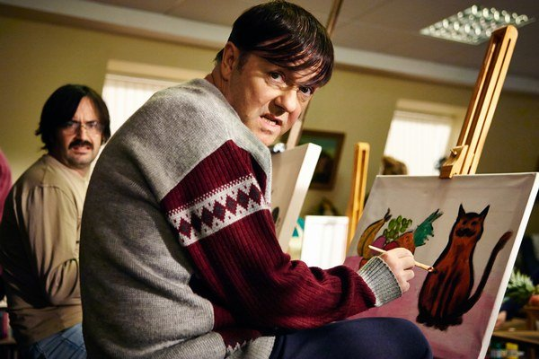 Ricky Gervais a jeho Dereck v Netflixe zostane.