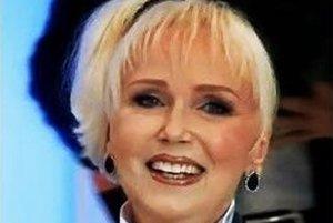 Marika Gombitová počas vystúpenia v televíznej šou V siedmom nebi.