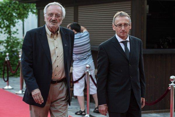 Riaditeľ Art Film Festu Peter Nágel (vpravo)  a prezident festivalu Milan Lasica.