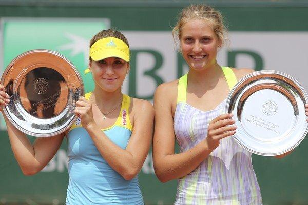 Lottnerová (vpravo) je finalistkou juniorskej dvojhry na French Open spred dvoch rokov. V Bratislave však vypadla už v 2. kole.
