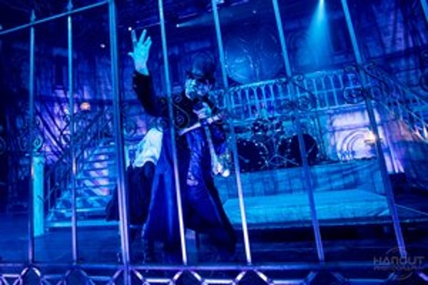 King Diamond na bratislavskom koncerte.