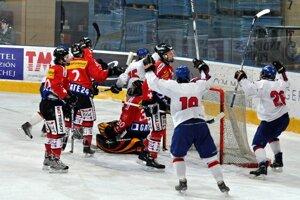 Slovenskí hokejoví reprezentanti do 18 rokov prehrali s Kanadou.
