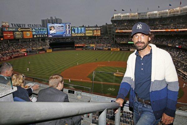 Pirlo len pred pár dňami navštívil bejzbalový zápas MLB medzi New York Yankees a Detroit Tigers.