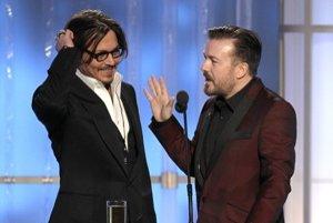 Dnes je všetko v 3D, len postava Johnnyho Deppa vo filme Tourist mala dva rozmery, povedal Ricky Gervais.