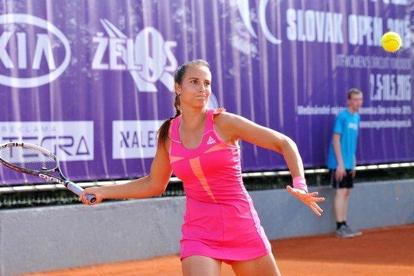 Turnaj pod hlavičkou ITF sa hrá v týchto dňoch aj v Trnave. Na snímke naša tenistka Lenka Juríková.