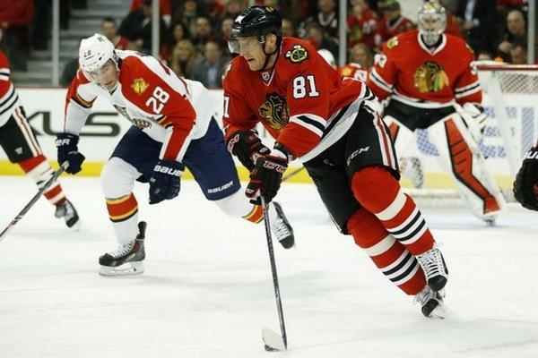 Marián Hossa strelil prvý gól v tohtoročnom play-off NHL.