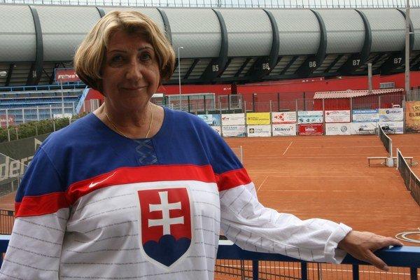 Magdaléna Vůjtková pred zápasom s Fínskom.